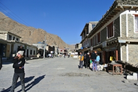 Jomsom- the main road through town.