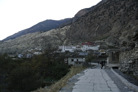 The town of Marpha from the road