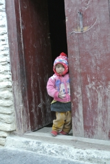 Cute girl in Marpha