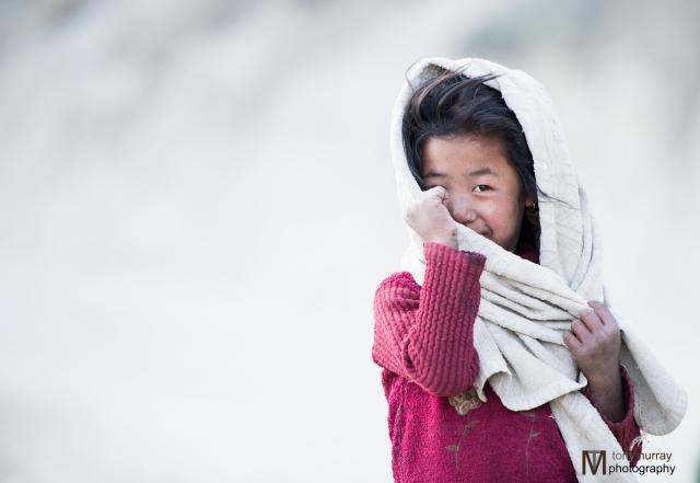 Cute Nepali girl Tony saw on his hike